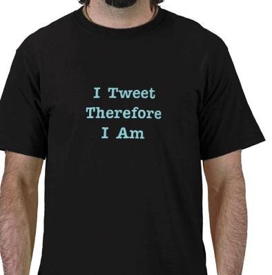 Ich Tweet, also bin ich (Twitter) Hemden von Zazzle.de_1261143250655