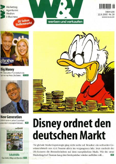 Disney ordnet den dt. Markt neu_wuv_092000